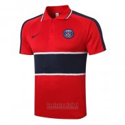 Camiseta Polo del Paris Saint-Germain 2020-2021 Rojo y Azul