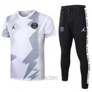 Chandal del Paris Saint-Germain Jordan Manga Corta 2020-2021 Blanco