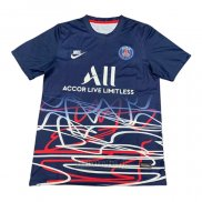 Camiseta de Entrenamiento Paris Saint-Germain 2020-2021 Azul