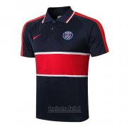Camiseta Polo del Paris Saint-Germain 2020-2021 Azul y Rojo