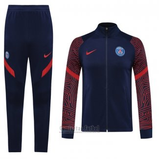 Chandal de Chaqueta del Paris Saint-Germain 2020-2021 Azul y Rojo