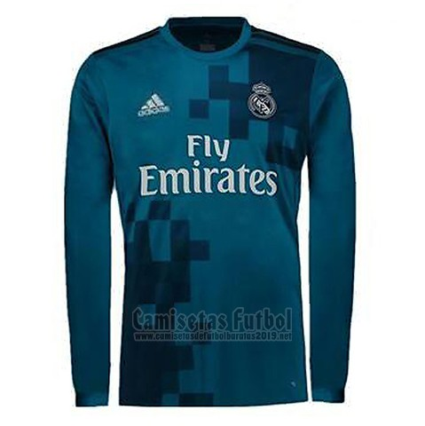 Camiseta Real Madrid 3ª Manga Larga 2017-2018. Loading zoom cecbbff48e285
