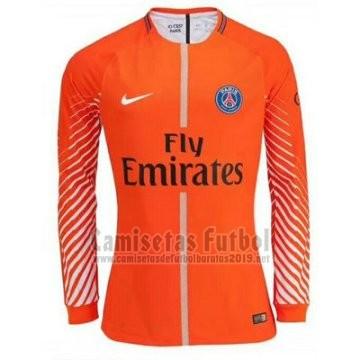 Camiseta Paris Saint-Germain Portero Manga Larga 2017-2018 Naranja ... 42d7234cc1f7f